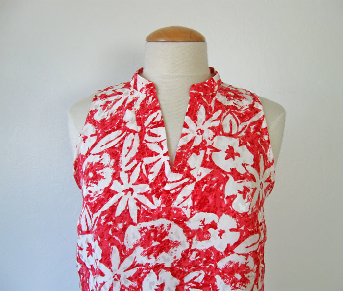 silk coral top closeup