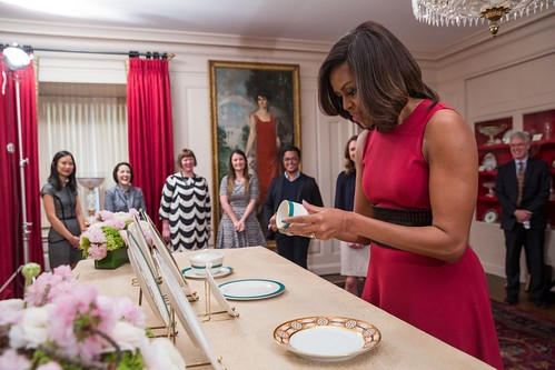 Michelle Obama inspects new china 2015