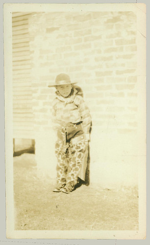 Child in cowboy outfit