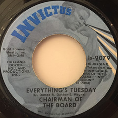 CHAIRMEN OF THE BOARD:EVERYTHING'S TUESDAY(LABEL SIDE-A)