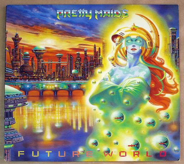 "PRETTY MAIDS FUTURE WORLD Danish Heavy Metal 12"" VINYL LP"