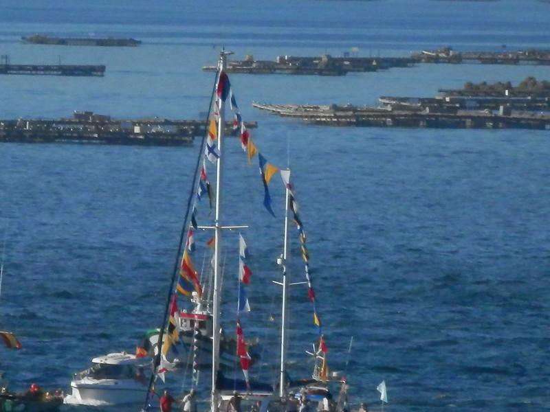 Barcos adornados y bateas