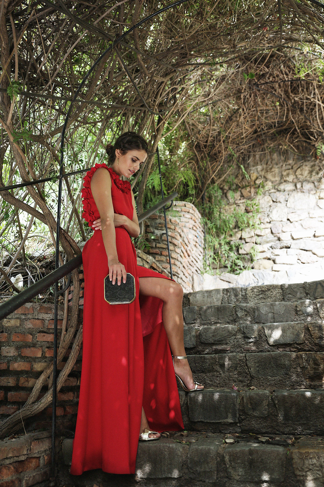 Jessie Chanes Seams for a Desire Apparentia Red Long Dress-4