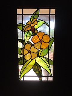 Front door stained glass panel by Vince Taylor 2004