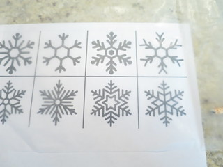 Iron Craft '16 Challenge #15 - Glue Snowflakes