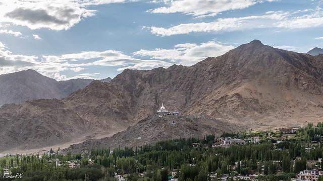 Shanti Stupa from Leh Palace