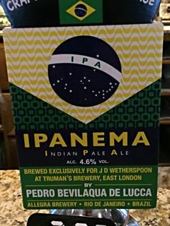 Allegra (Truman's), Ipanema IPA, Brazil (England)