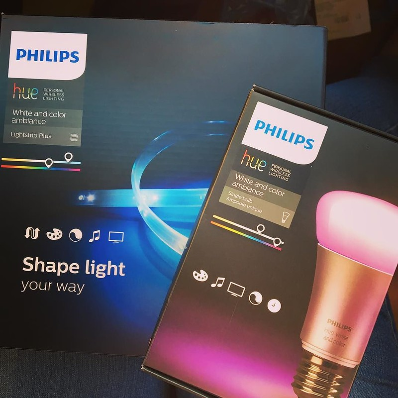 Hue-ston, we have a problem. I'm obsessed! Got these for my office room! Gonna be LIT! 💡 #allmymoneygoestohuelights #philipshue #huelights @philipshue
