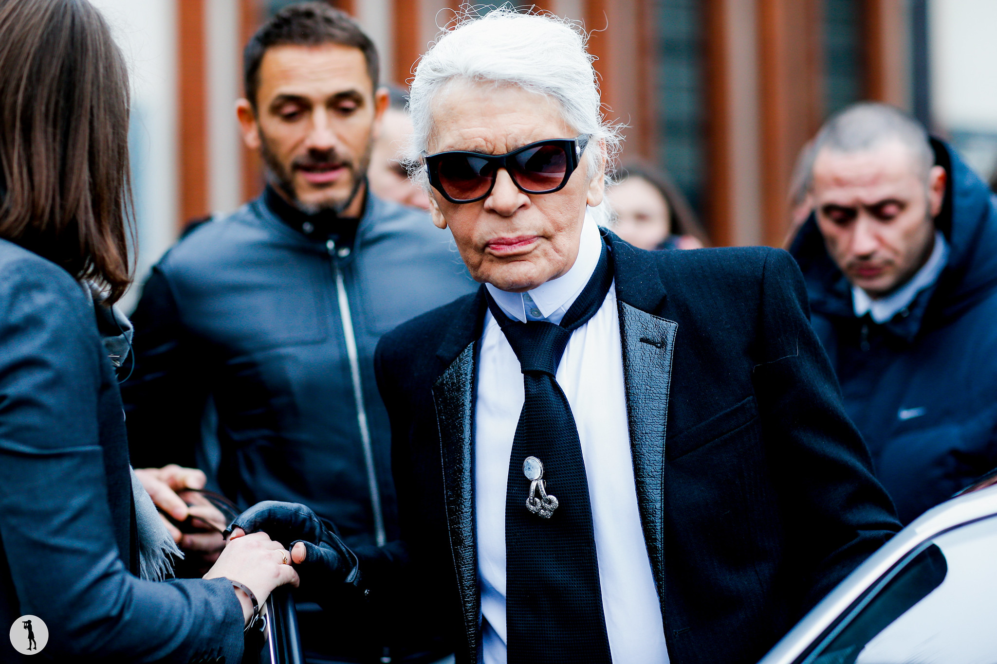 Karl Lagerfeld at Paris Fashion Week Menswear-3