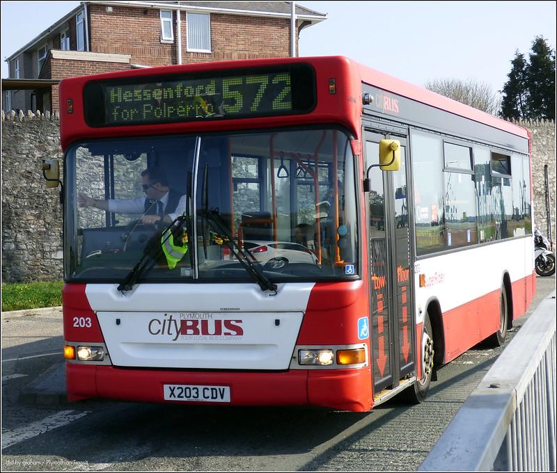 Plymouth Citybus 203 X203CDV