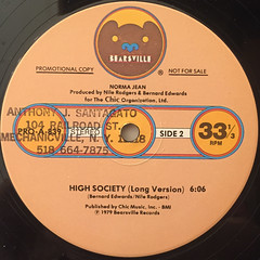 NORMA JEAN:HIGH SOCIETY(LABEL SIDE-B)