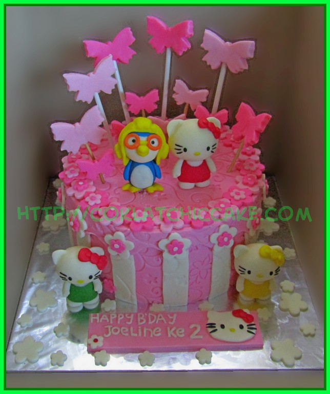 Cake Pororo Hello kitty