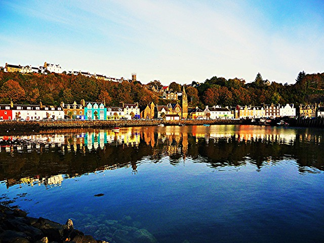 View of Tobermory Harbour, Isle of Mull, Scotland.