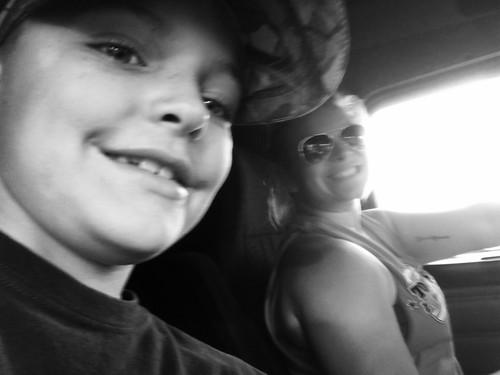 Truck passenger selfie!