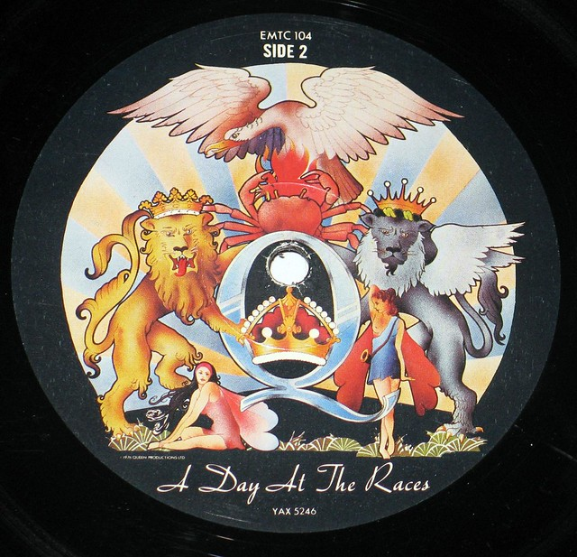 "Queen - A Day at the Races GB 12"" vinyl LP album"