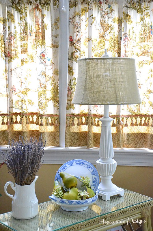 Magazine Table - Blue and White - Lavender - Sunroom - Housepitality Designs