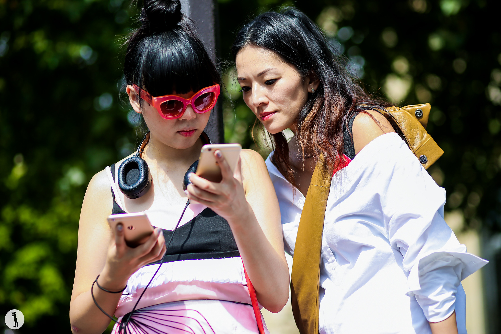 Susie Lau and Tina Leung at Paris Fashion Week Haute Courure