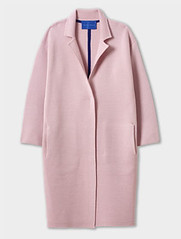 Winser London dusty pink Milano wool coat, coatigan