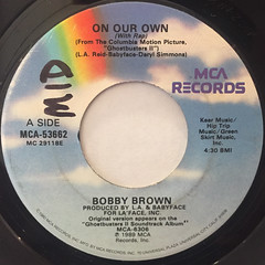 BOBBY BROWN:ON OUR OWN(LABEL SIDE-A)