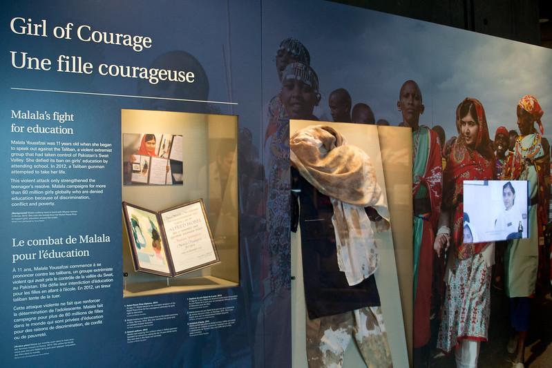 Malala Yousafzai display, Canadian Museum of Human Rights, Winnipeg | packmeto.com