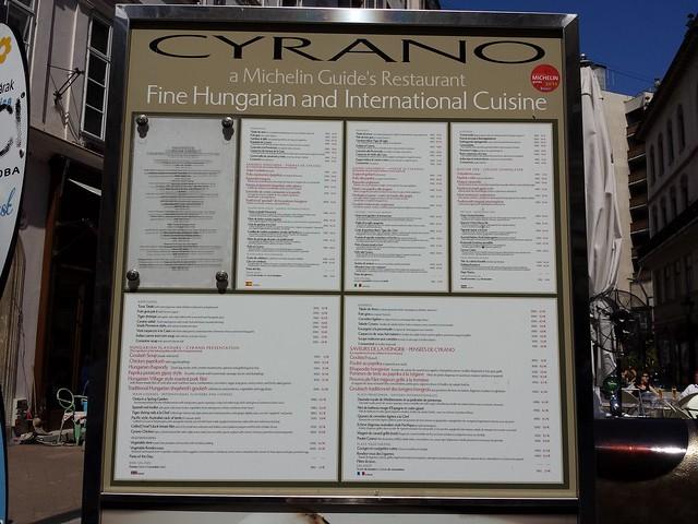 *Cyrano menu