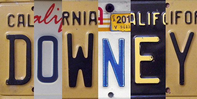 Downey license plate