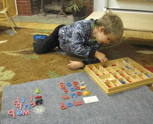 building words with the movable alphabet
