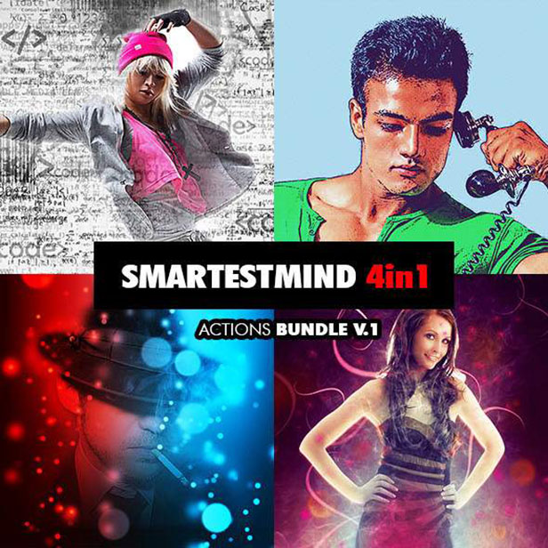 Smartestmind - 4in1 Photoshop Actions Bundle V.1