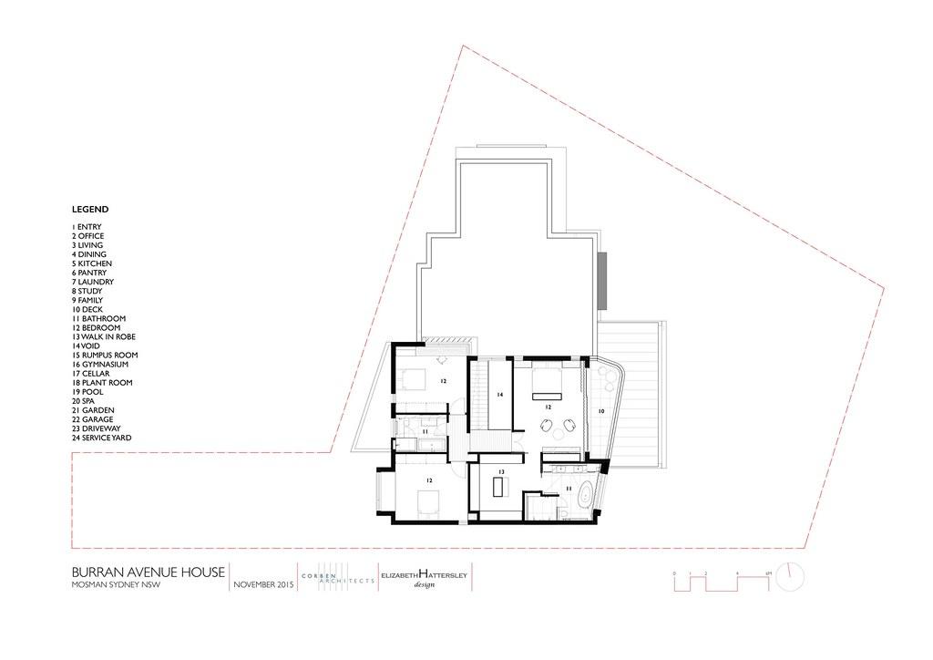 Трехэтажный дом в Сиднее. План третьего этажа