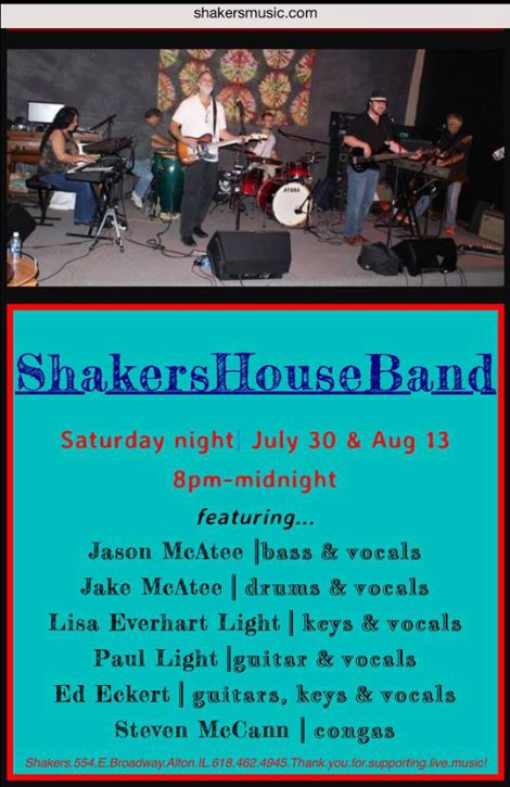 Shakers House Band 8-13-16