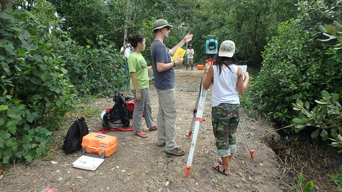 Restore Ubin Mangroves (R.U.M.) Initiative practicing mapping mangroves