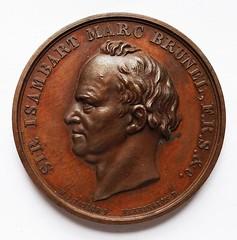 Isambard Marc Brunel, Thames Tunnel medal obverse
