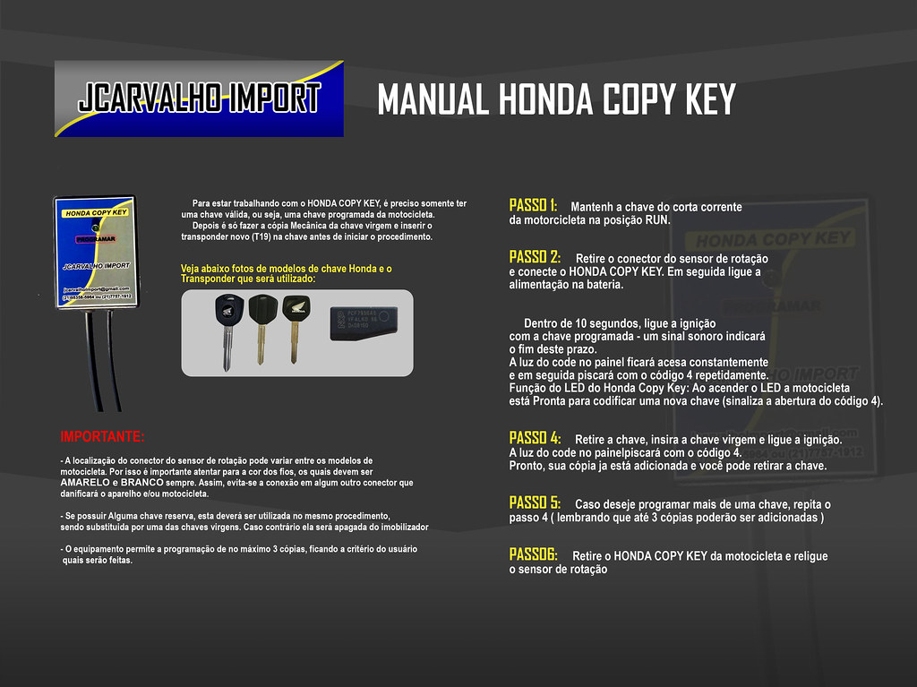 honda copy key