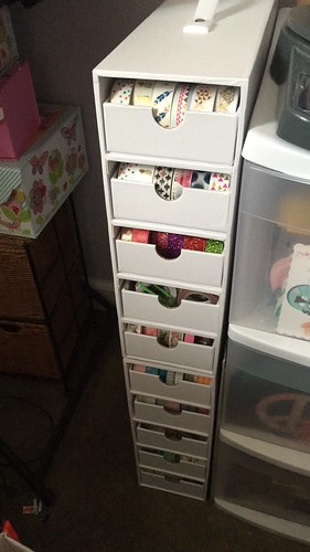 Washi tape drawers.