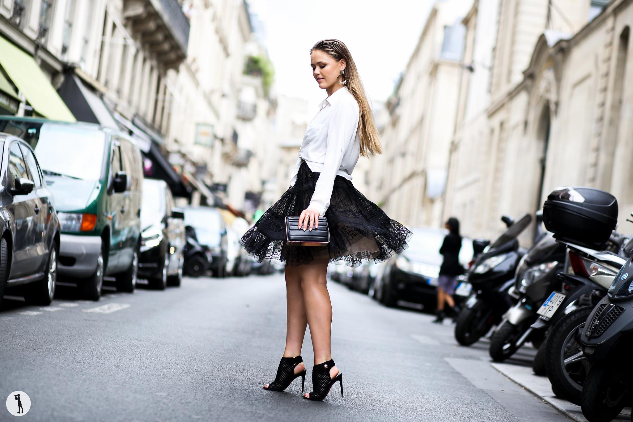 Kristina Bazan at Paris Fashion Week Haute Couture