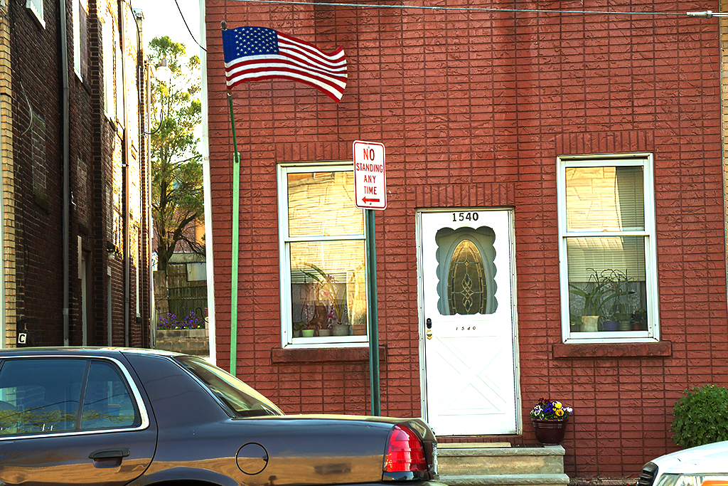 Flag-at-house-on-Hornberger-Avenue--Roebling