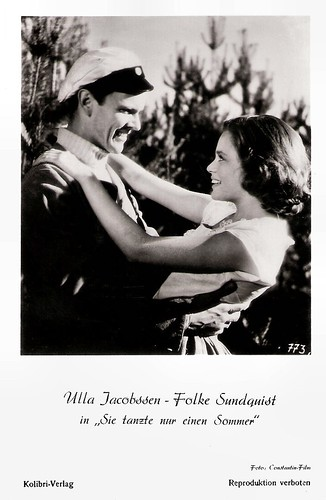 Ulla Jacobsson and Folke Sundquist in Hon dansade en sommar (1951)
