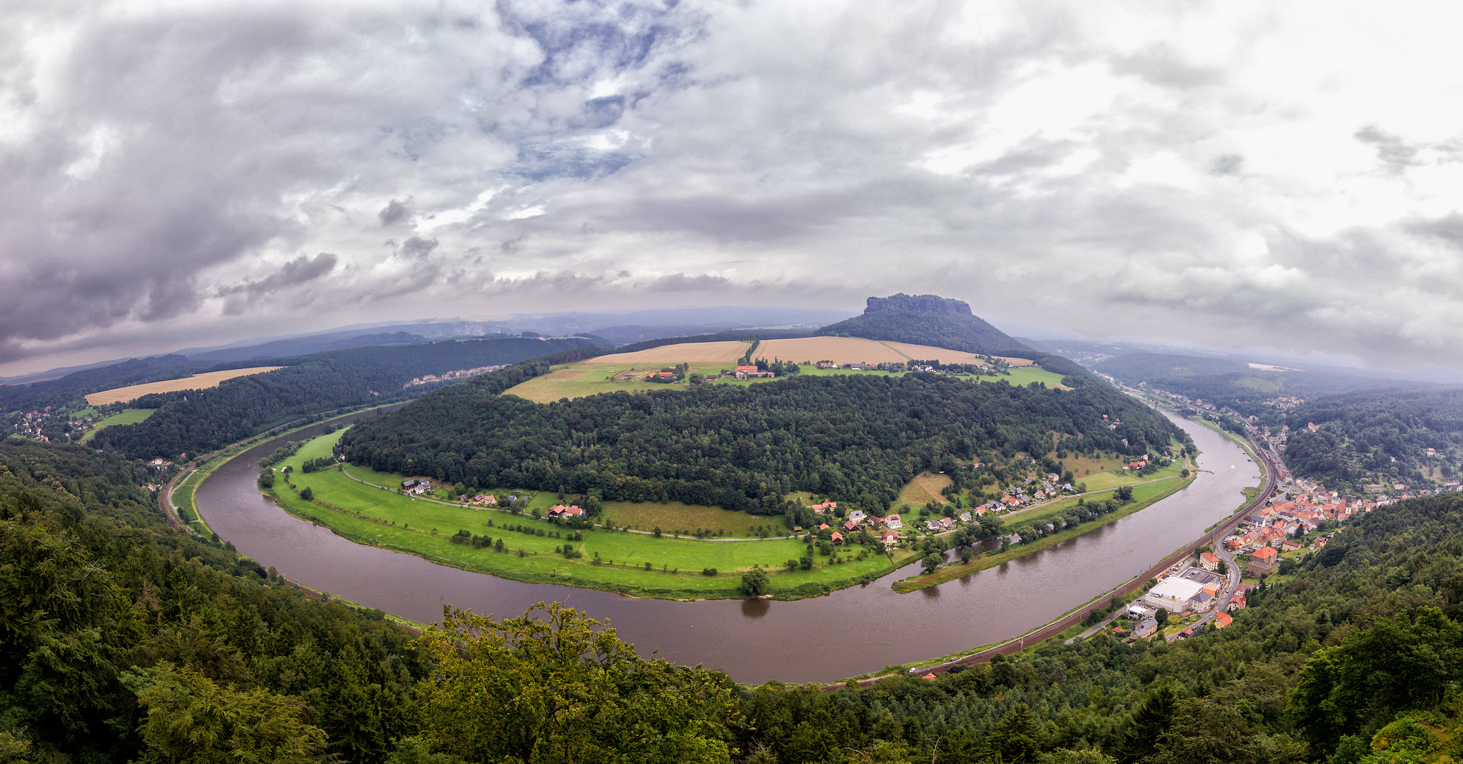 Lilienstein and the river Elbe