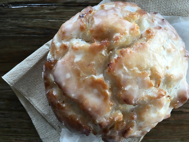 Citrus-ginger iced gluten-free vegan scone at Back to Eden Bakery Portland, Oregon