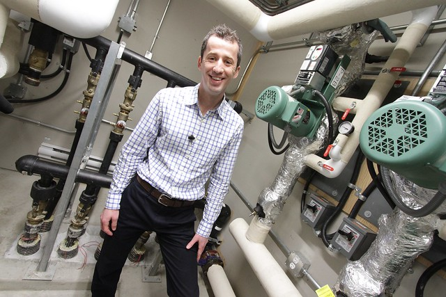 Jacob Komar and the geothermal system in the Mosaic Centre