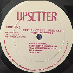 THE UPSETTERS:THE RETURN OF THE SUPER APE(LABEL SIDE-A)