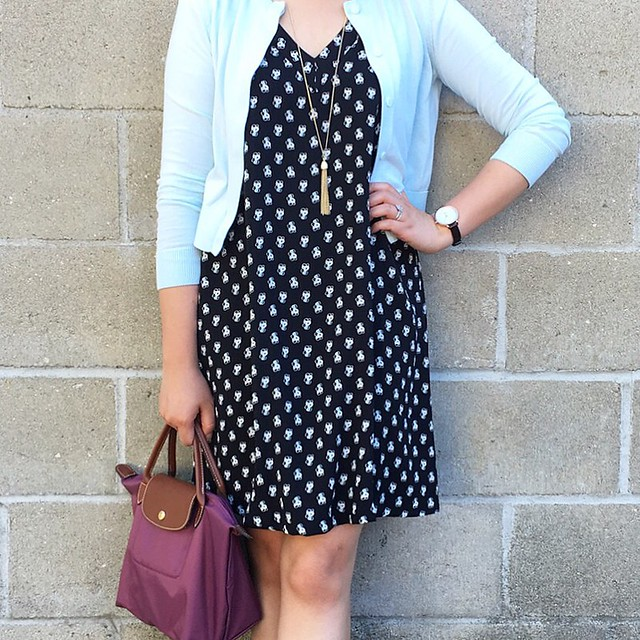 LOFT Berry Swing Dress