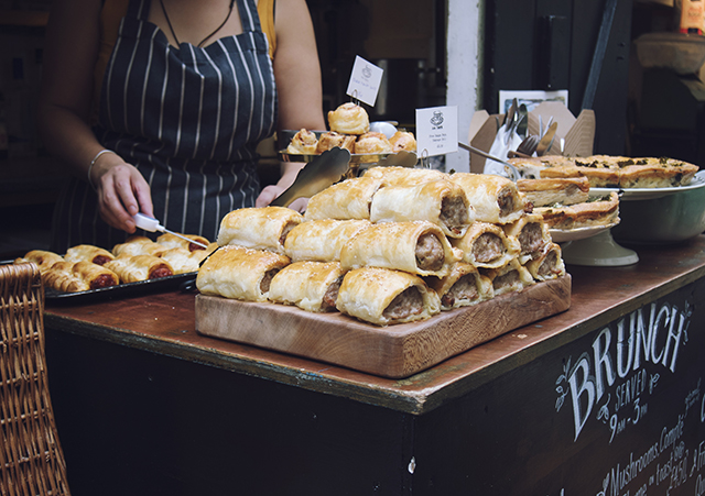 being little: bristol city guide - st nicks market fresh baked sausage chorizo rolls