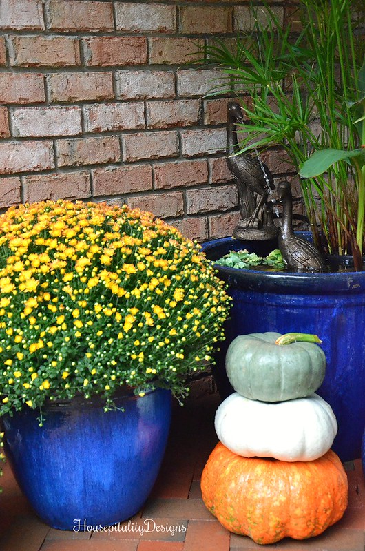 Pumpkin Topiary - Fall Mum - Fountain - Housepitality Designs