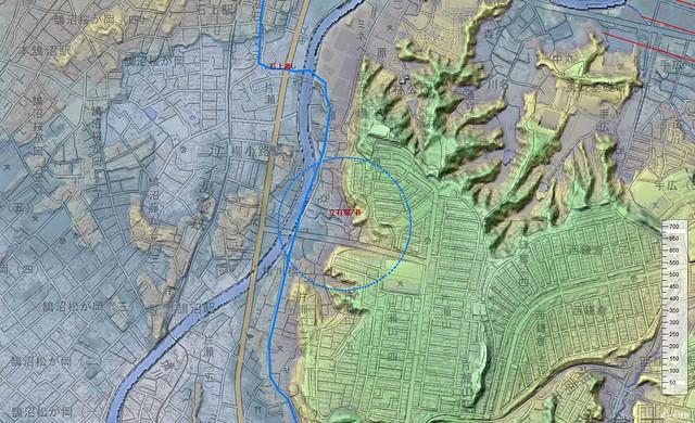 立石周辺の3D地図