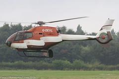 G-DEVL - 2001 build EC120B Colibri, departing down Runway 26 at Barton