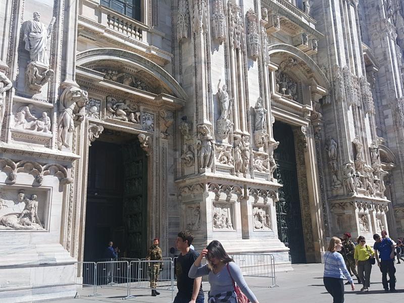 Milan Duomo entrance