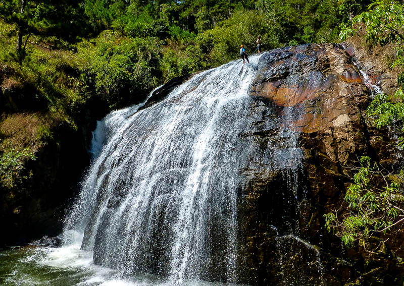 Waterfall abseil - Canyoning in Dalat