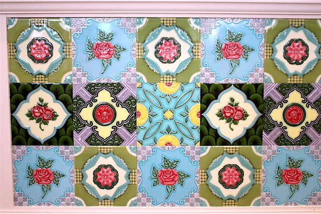 Peranakan tiles at Lobby Lounge of InterContinental Singapore