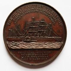 1859 Isambard Kingdom Brunel Steamship medal reverse